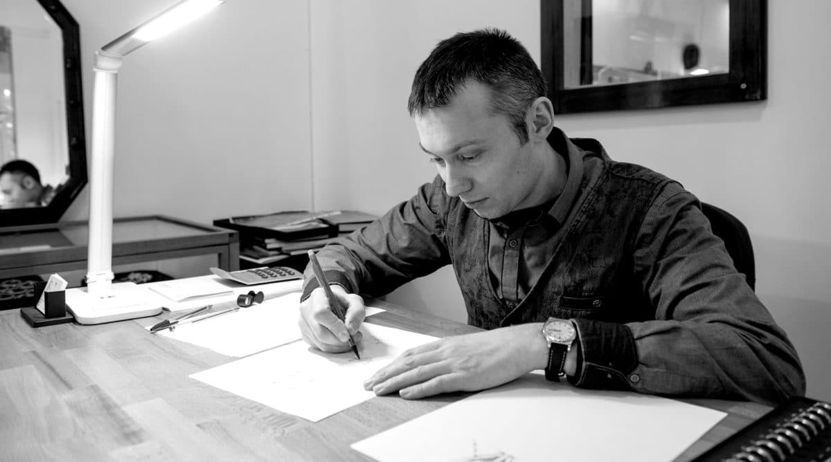 Lukasz Sobstyl, founder of Edinburgh Jewellery Repair, at work